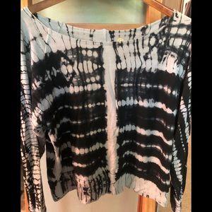 Lily Lotus yoga tie dye sweatshirt